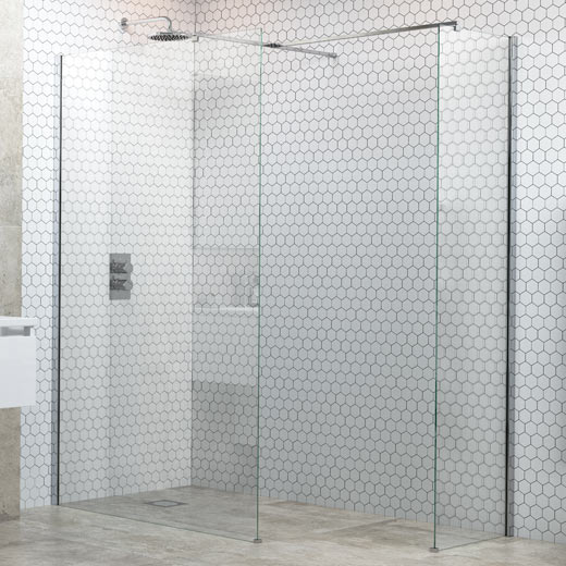 Wetroom Panel and Support Bar